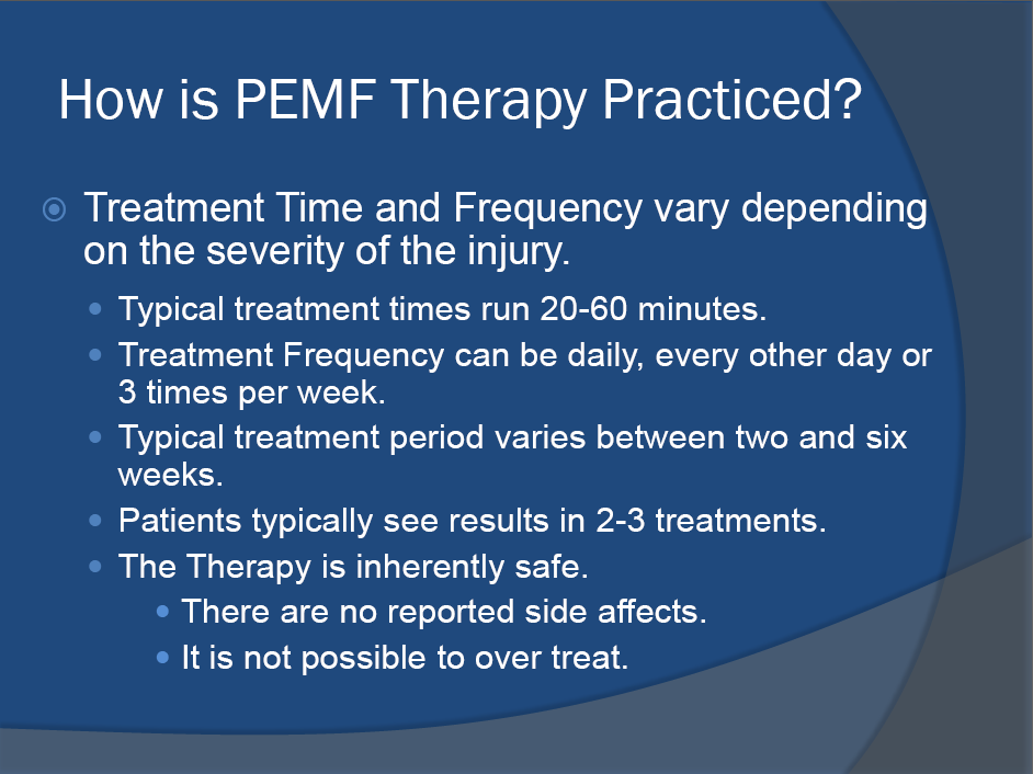 PEMF HEALING PROTOCAL